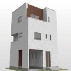 上福岡駅徒歩10分圏内で2000万円台の新築戸建て誕生。モダンスタイルのおしゃれな内外装。ビルトインガレージ付き。初めてのマイホームに!(外観)