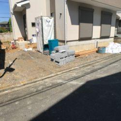 駐車場部分(工事中)